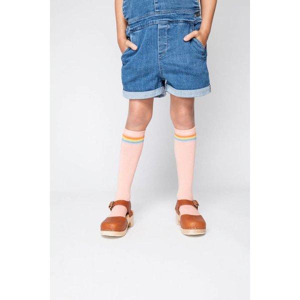 Knee Socks Peach/Rainbow