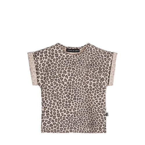 House of Jamie Batwing Tee Caramel Leopard