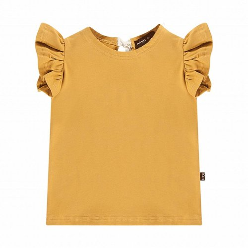 House of Jamie Ruffled Tee Honey Mustard