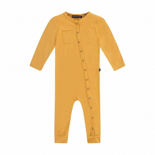 House of Jamie Button Jumpsuit Honey Mustard