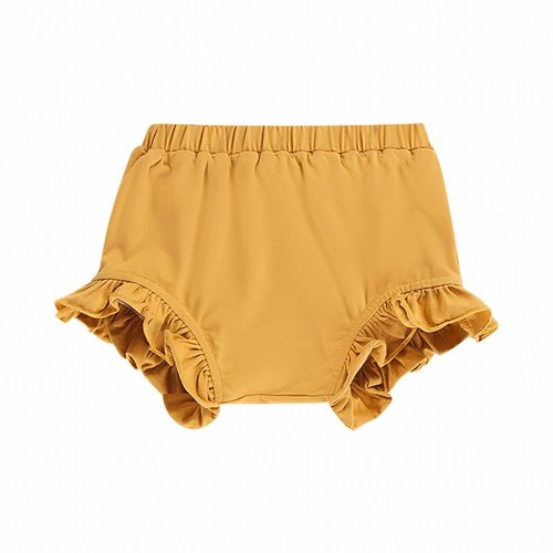 House of Jamie Ruffled Short Honey Mustard