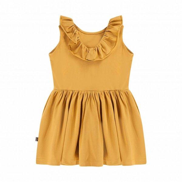 Sleeveless Ruffled Dress Honey Mustard