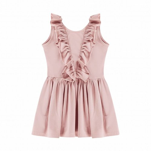 House of Jamie Sleeveless Ruffled Dress Powder Pink