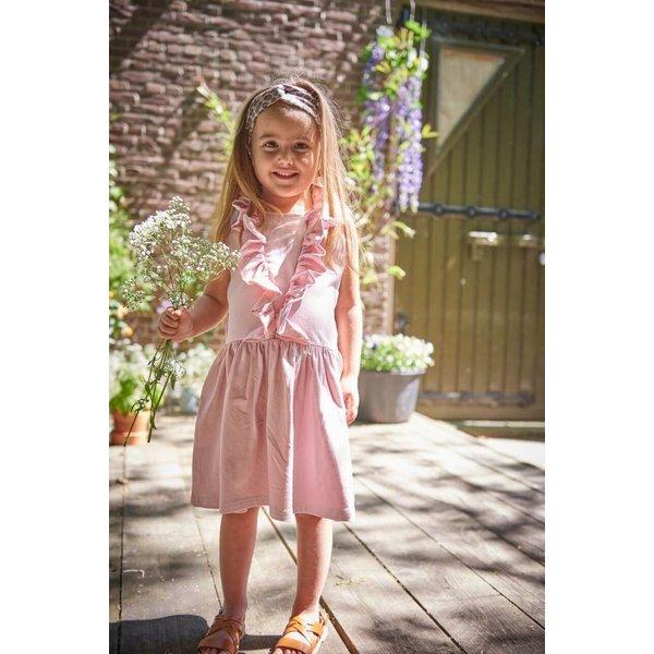 Sleeveless Ruffled Dress Powder Pink