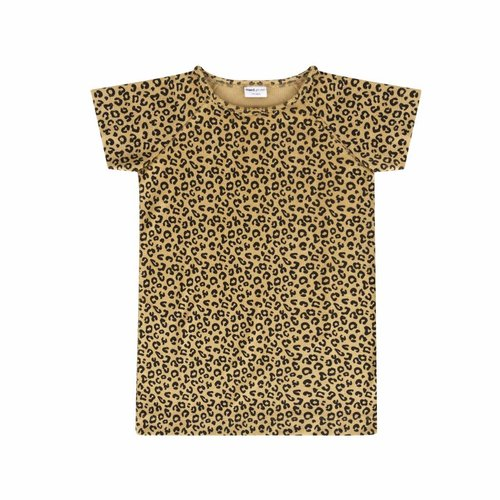 Maed for Mini Yellow Leopard Dress Short Sleeve - jurk