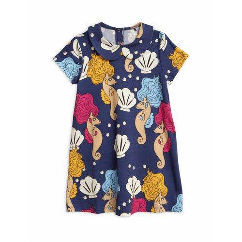 Mini Rodini Seahorse Collar SS Dress