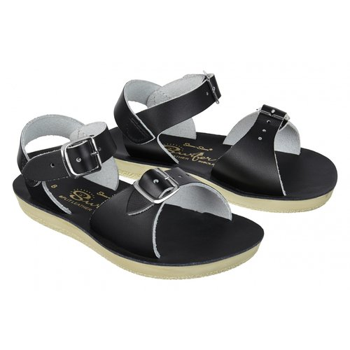 Salt-Water Sandals Surfer Black Sandals
