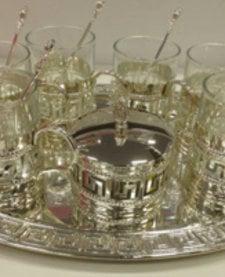 6-persoons glazen theeset