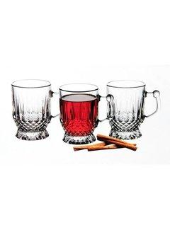 Paşabahçe glazen 'Coffee mugs & cups (6 stuks)
