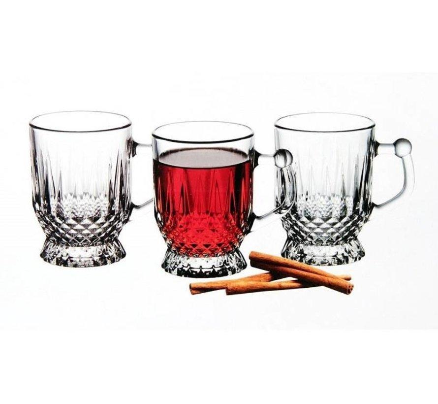 """cam """"Kahve fincanları ve bardaklar (6 adet)"""