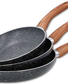 Koekenpannenset met marmeren coating