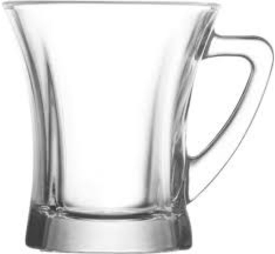 Truva 3 parçalı kulplu çay bardağı seti