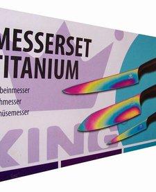 Titanium messenset  (3 delig)