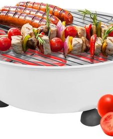 Elektrische tafel barbecue wit