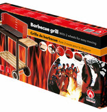 Verrijdbare stalen barbecue