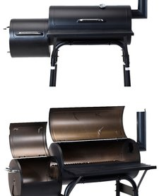 Smoker Houtskoolbarbecue - zwart