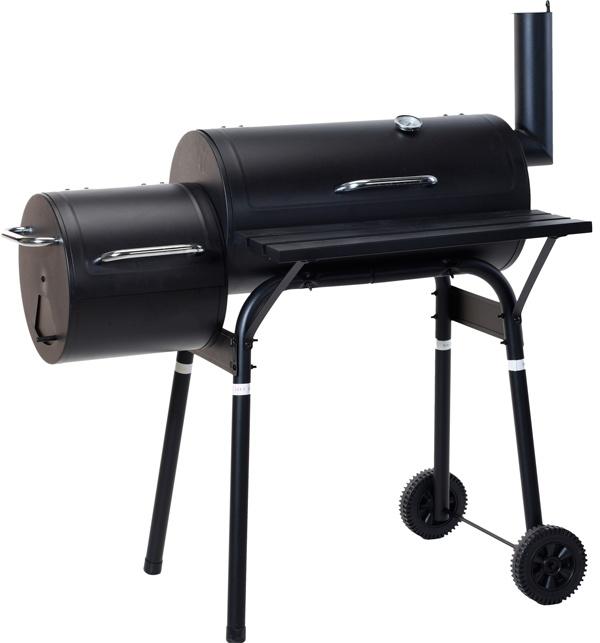 Vaggan Smoker Houtskoolbarbecue - zwart