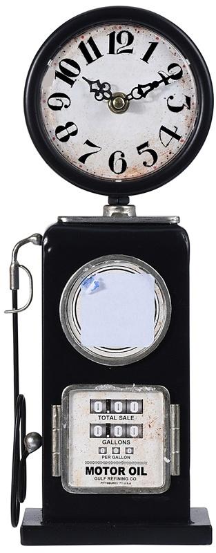Ceruzo Retro tafelklok Benzinepomp - 35cm - zwart