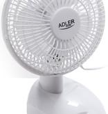 Adler AD7301 - Tafelventilator wit - 15cm