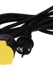 Verlengsnoer met dubbel stopcontact 3 meter IP44