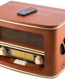 CR 1109 - Retro houten radio met CD/ MP3/USB
