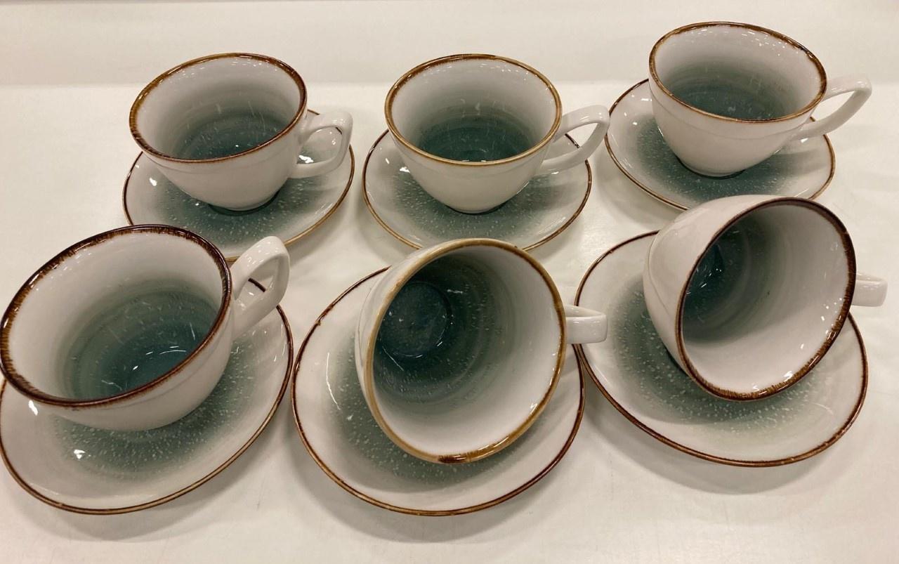 Bricard porcelain 12 parca kahve seti