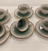 Bricard porcelain Mokkaset 12 delig AMIENS blauw