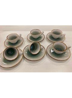 12 parca Turk kahve fincan seti +/- 7 cc