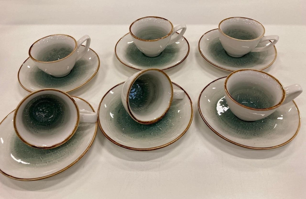 Bricard porcelain 12 parca Turk kahve fincan seti