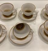 Bricard porcelain 12 parca Turk kahve seti +/- 7 cc