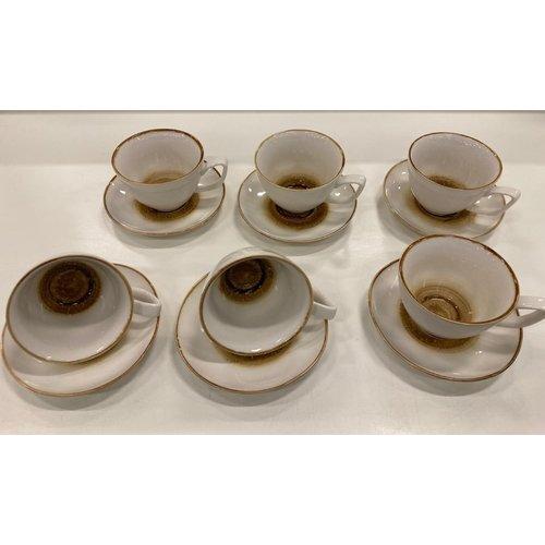 Bricard porcelain Mokkaset 12 delig AMIENS geel
