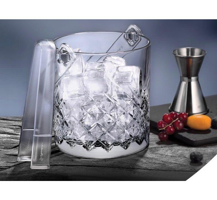 Glazen ijsklontjes houder
