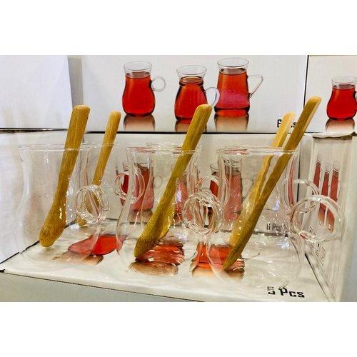 Cnr 0032 12 delige glazen theeset