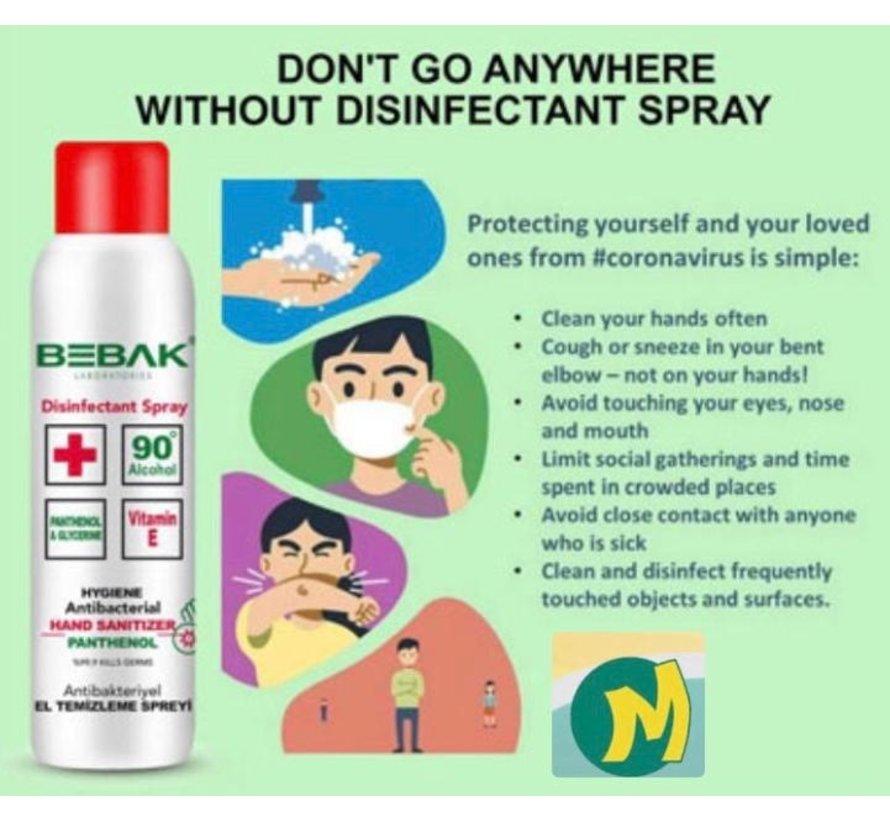 Antibacteriele desinfecterende handspray