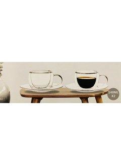 Bricard Glassware Dubbelwandige koffie/theeglazen set