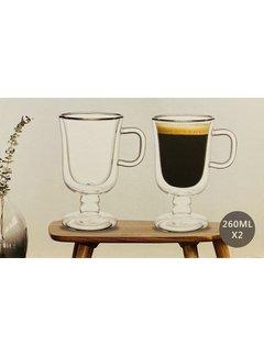 Bricard Glassware Çift camlı Irish Coffee bardakları