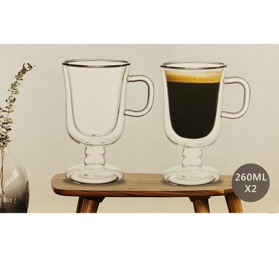 Çift camlı Irish Coffee bardakları