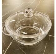 Pougine Glazen pan met deksel 2,5 liter