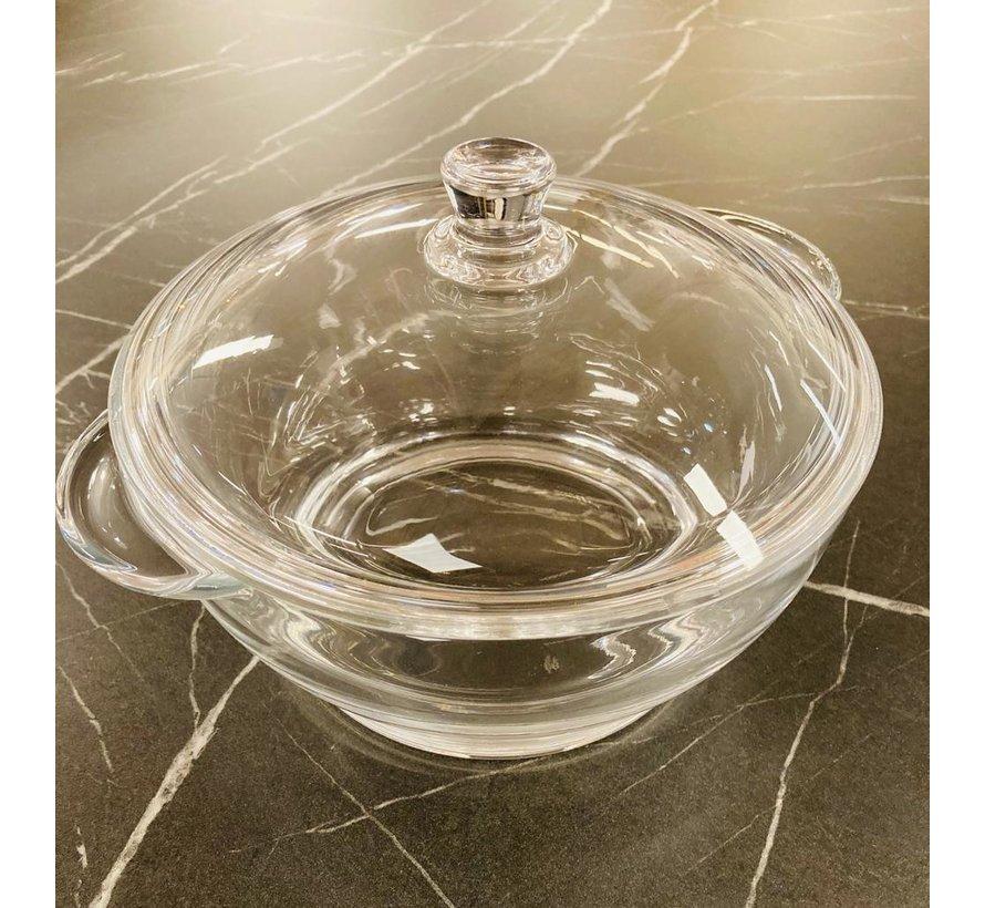 Glazen pan met deksel 2,5 liter