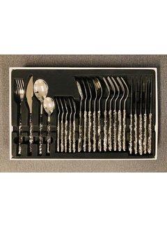 Ferveo Bestekset silver/zwart-marmer 24 delig ''ARAS''