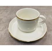 Bricard porcelain Moccaset voor 6 personen gold