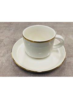 Bricard Porcelain Turk kahvesi fincan seti 6 kisilik gold