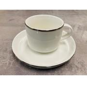 Bricard Porcelain Moccaset voor 6 personen silver