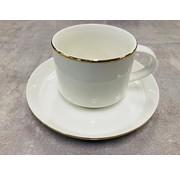 Bricard porcelain Koffieset voor 6 personen gold