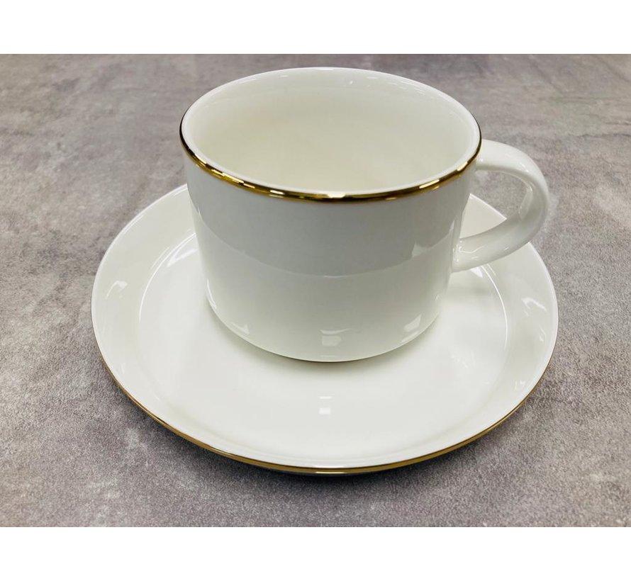 Koffieset voor 6 personen gold
