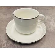 Bricard Porcelain Turk kahvesi fincan seti 6 kisilik silver