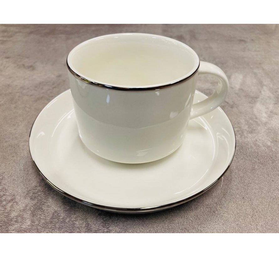 Koffieset voor 6 personen silver