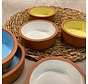 6 gekleurde Terracotta schalen