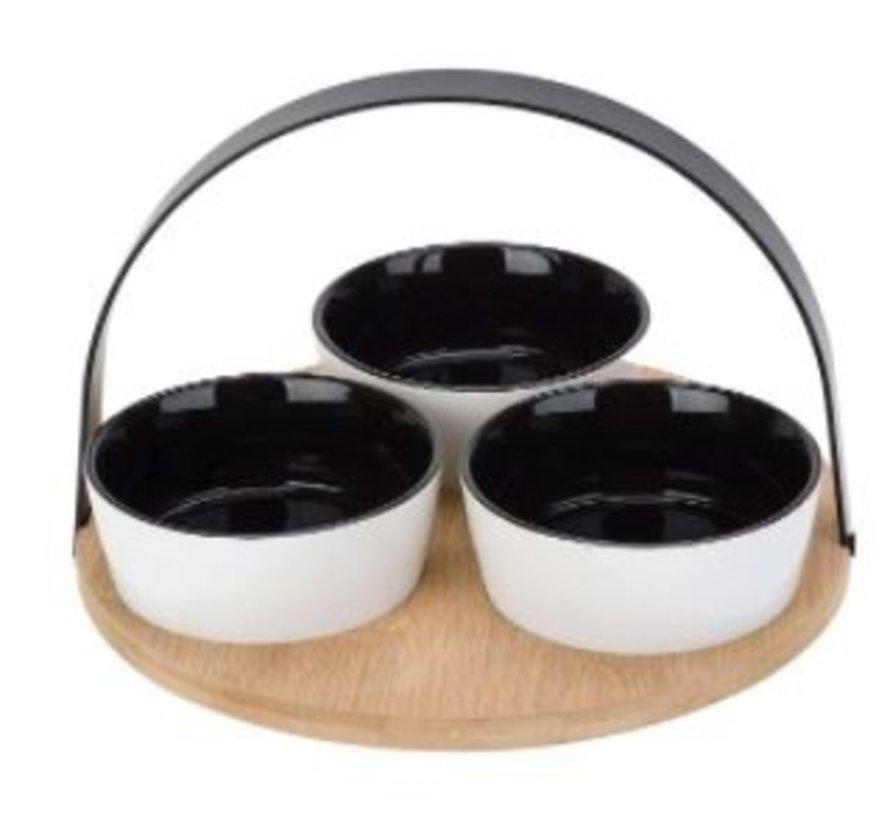 Tappasset/serveerschalenset