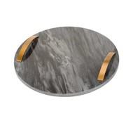 Cosy&Trendy Marmeren dienblad met handvaten (rond)